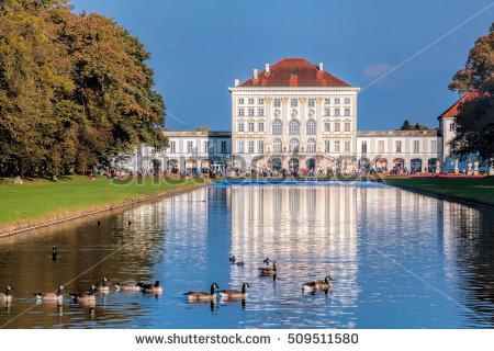 Castle Munich Nymphenburg Park Stock Photos, Royalty.