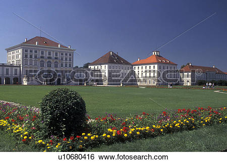 Stock Images of Nymphenburg Palace, Munich, Germany, Bavaria.