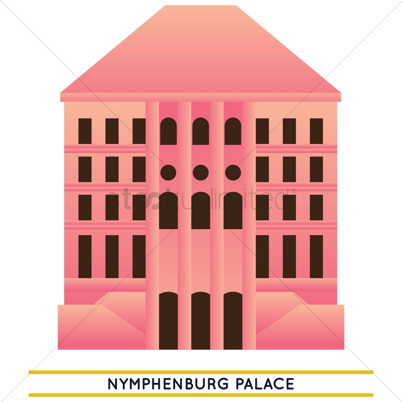 Nymphenburg palace Vector Image.
