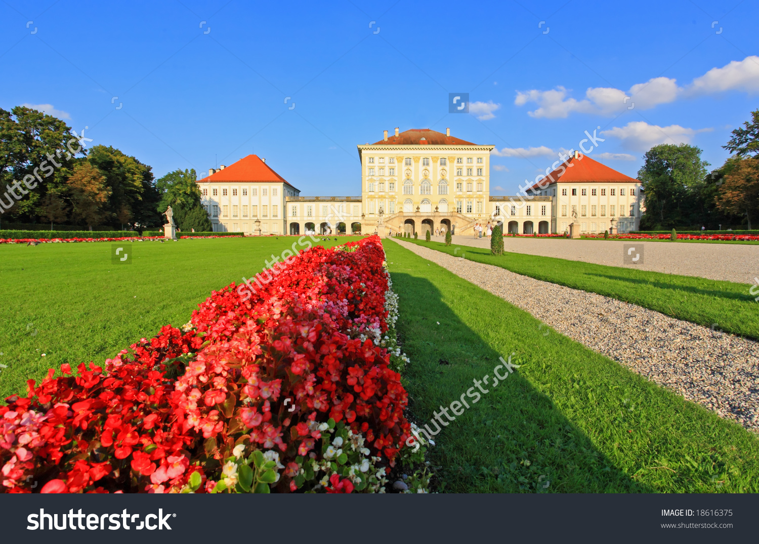 The Royal Garden At The Nymphenburg Palace In Munich Germany Stock.