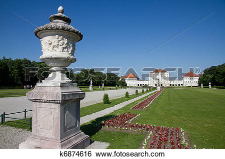 Stock Images of Nymphenburg palace on sunny day. munich germany.