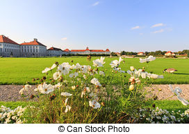 Stock Image of The scenery at the Nymphenburg palace in Munich.