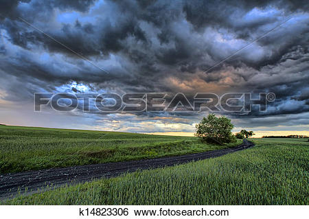 Stock Images of Poland Nysa dark clouds k14823306.