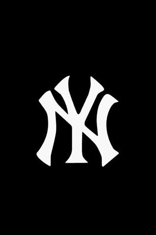 NYY Logo iPhone Wallpaper.