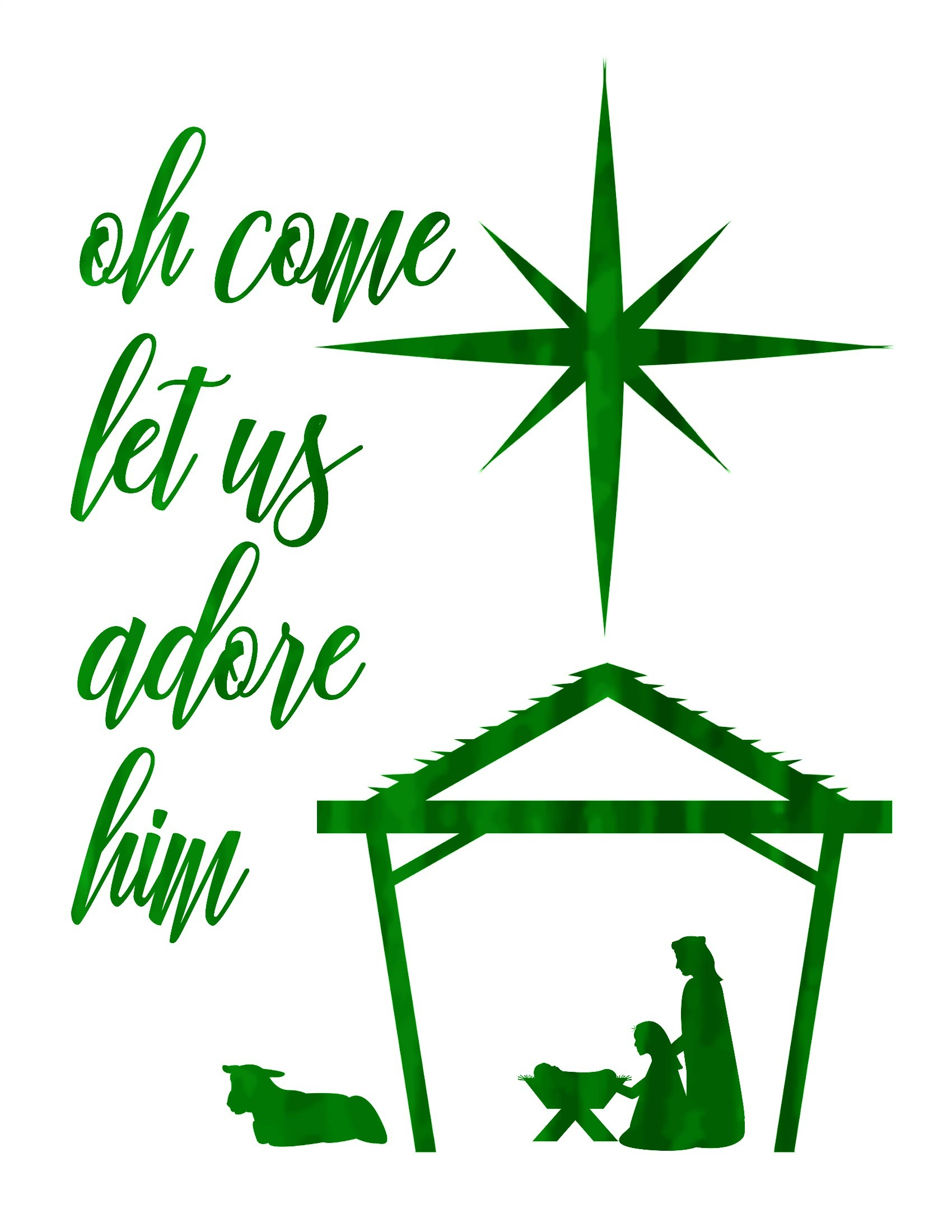 O come let us adore him clipart 6 » Clipart Portal.