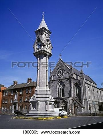 Stock Image of O'Connell Monument, O'Connell Street, Limerick City.