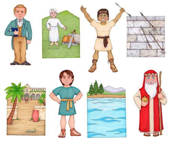 Follow The Prophet Clip Art (Book of Mormon Prophets).