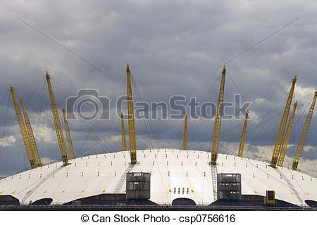 Stock Image of Millenium Dome, O2 Arena, London, England.