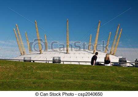 Stock Photography of Young couple at the O2 arena..
