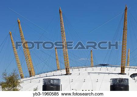 Stock Image of The O2 arena, Greenwich Peninsula, London, England.