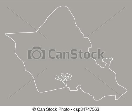 Clip Art Vector of Map of Oahu csp34747563.