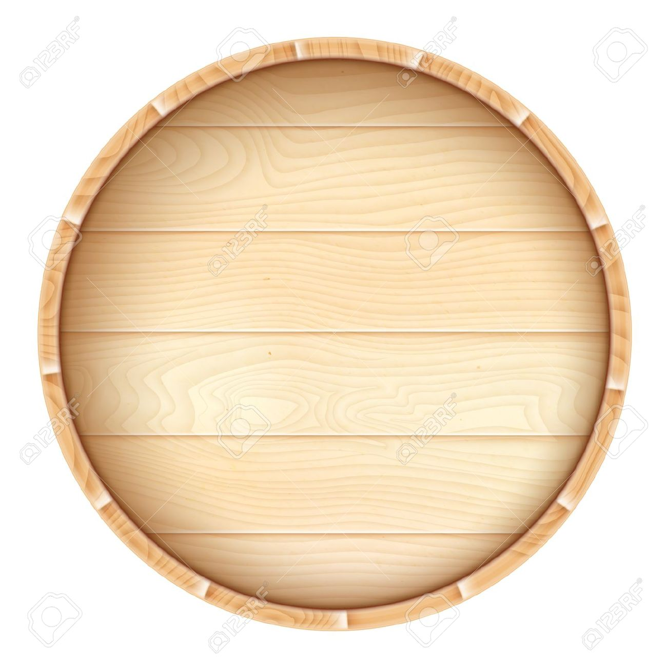Oak Barrel Top Clipart.