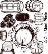 Oak barrel Clip Art and Stock Illustrations. 946 Oak barrel EPS.