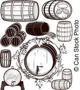 Oak barrel Clip Art and Stock Illustrations. 946 Oak barrel EPS.