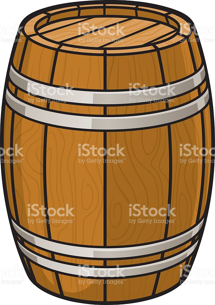 Oak Barrel stock vector art 472284601.