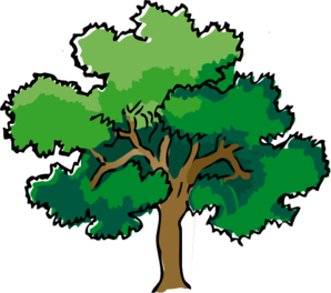 Oak Trees Clipart.