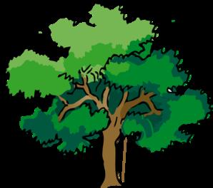 Oak Trees Clipart.