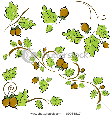 Showing post & media for Cartoon acorn with oak leaves.