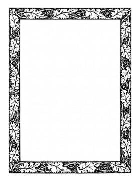 oak leaf border clip art.