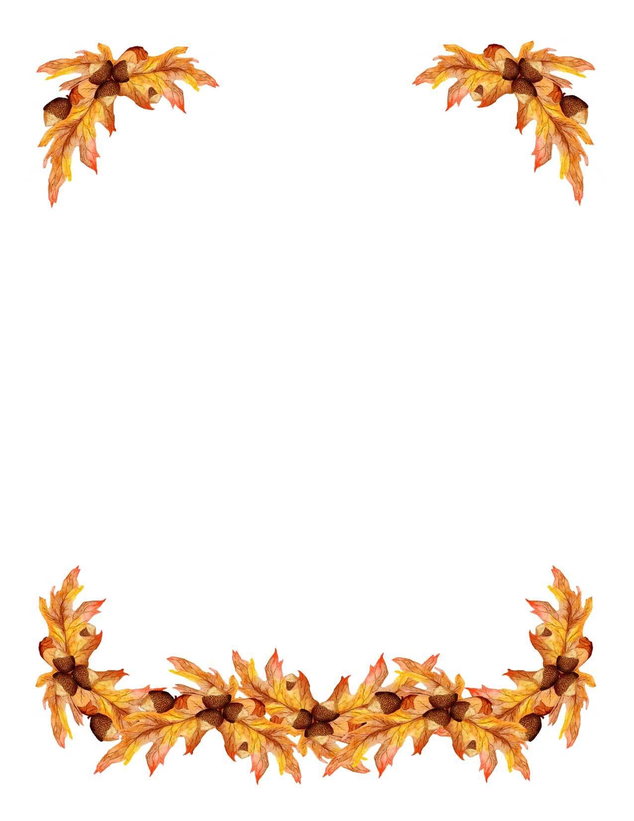 Oak leaf border clipart 2 » Clipart Portal.