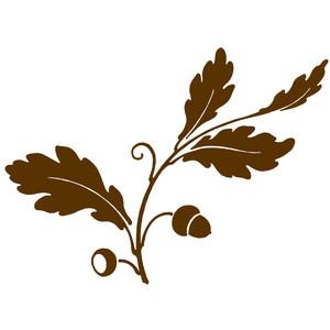 Clipart Acorns Oak Leaves.