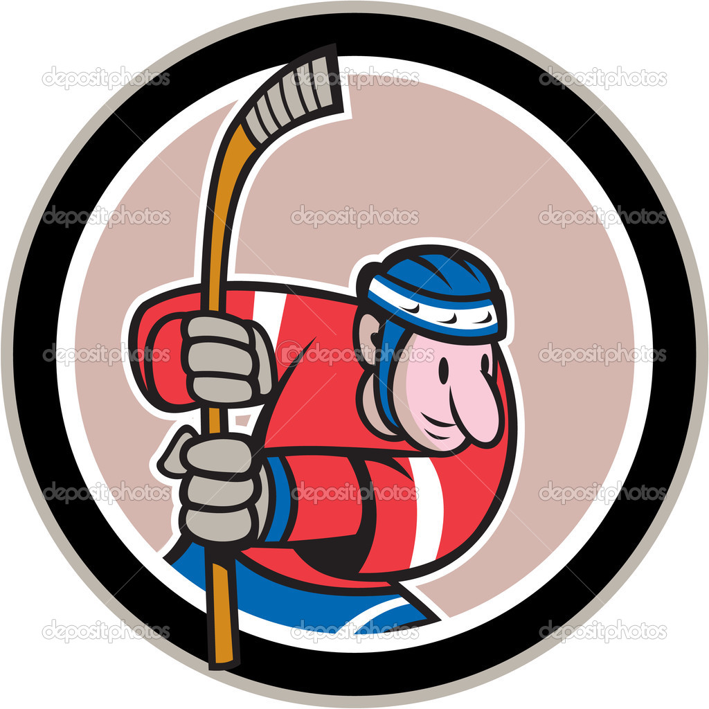 Field Hockey Player With Stick Cartoon — Stock Vector © patrimonio.