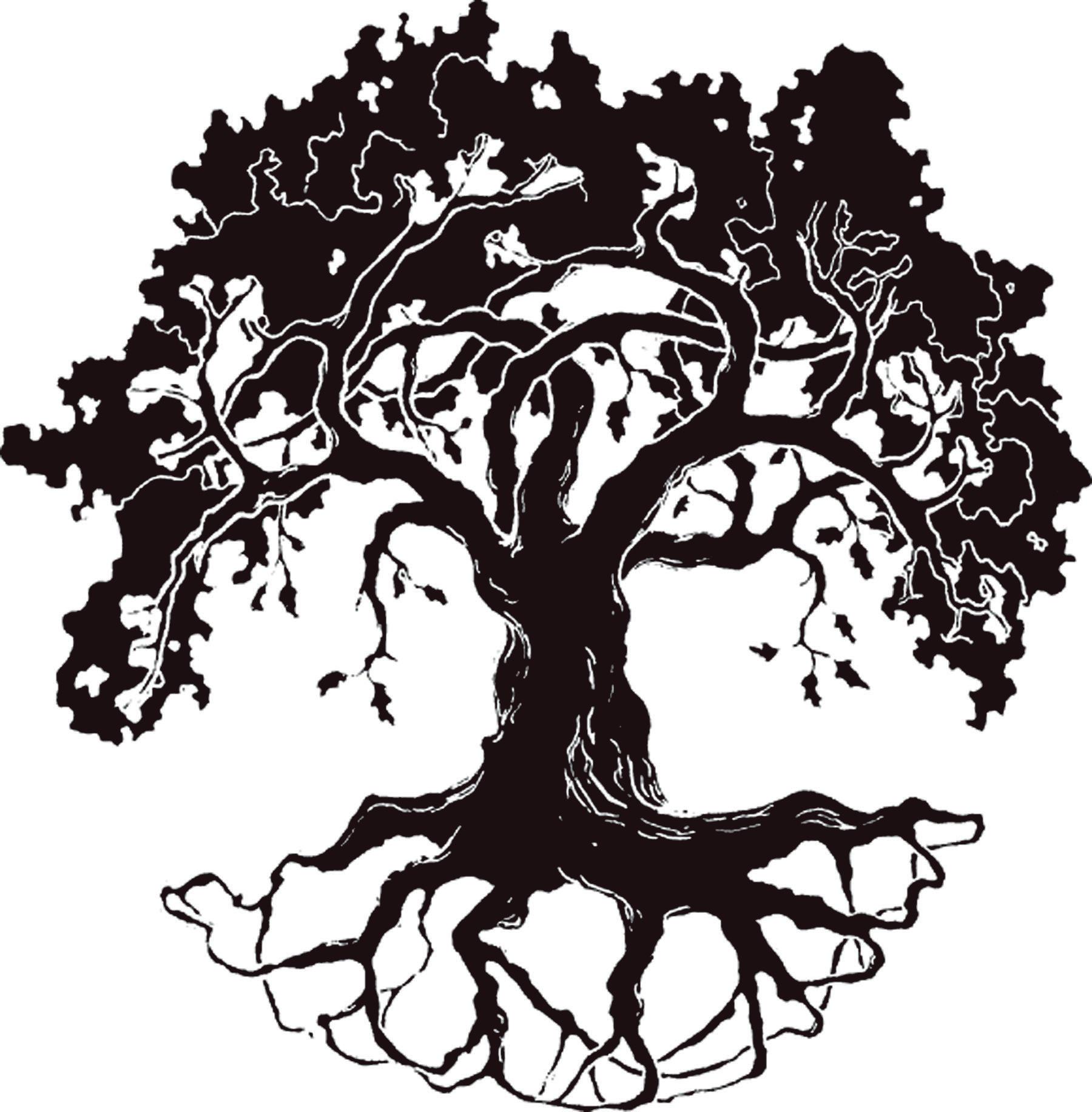 Oak tree silhouette clip art free.