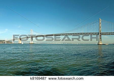 Picture of Suspension Oakland Bay Bridge in San Francisco to Yerba.