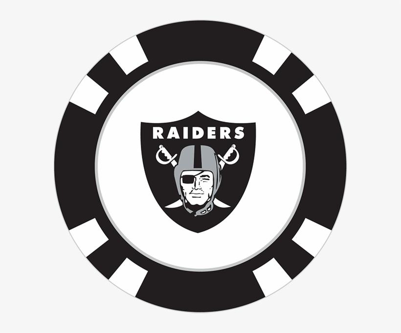 Oakland Raiders Poker Chip Ball Marker.