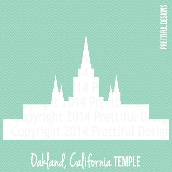 Oakland California Temple LDS Mormon Clip by.