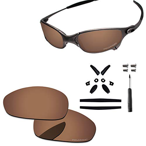 PapaViva Lenses Replacement & Rubber Kits for Oakley Juliet Copper Brown.
