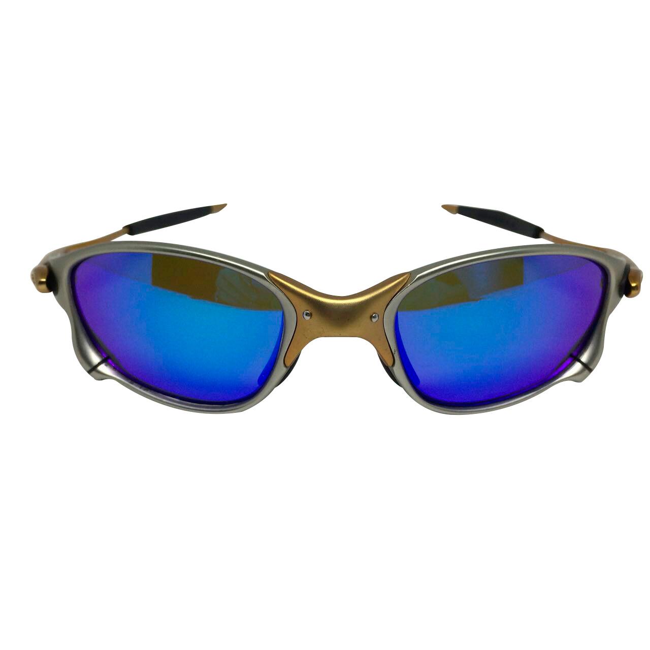 Óculos Oakley Juliet Doublexx 24K lente azul.