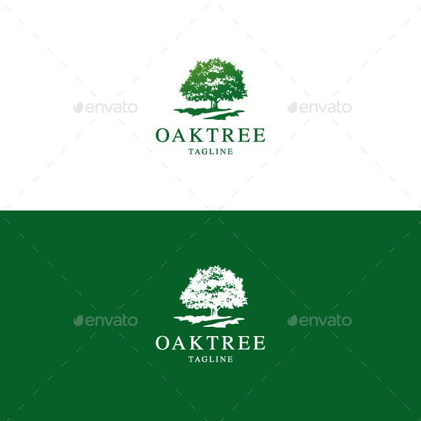 Oak Tree Logo Graphics, Designs & Templates from GraphicRiver.