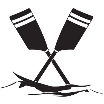 Rowing oars clip art.