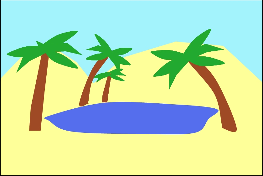 Oasis Clipart.