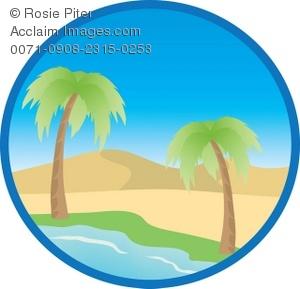 Desert Oasis Clipart.