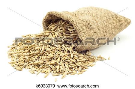Stock Photograph of bag of oats k6933079.