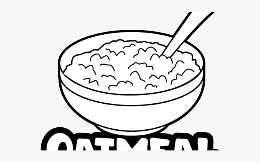 Bowl Of Oatmeal Drawing , Free Transparent Clipart.