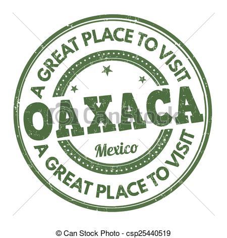 Vector Clip Art of Oaxaca stamp.