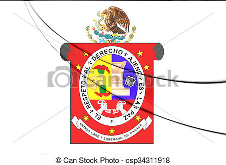 Clipart of Flag of Oaxaca State, Mexico..
