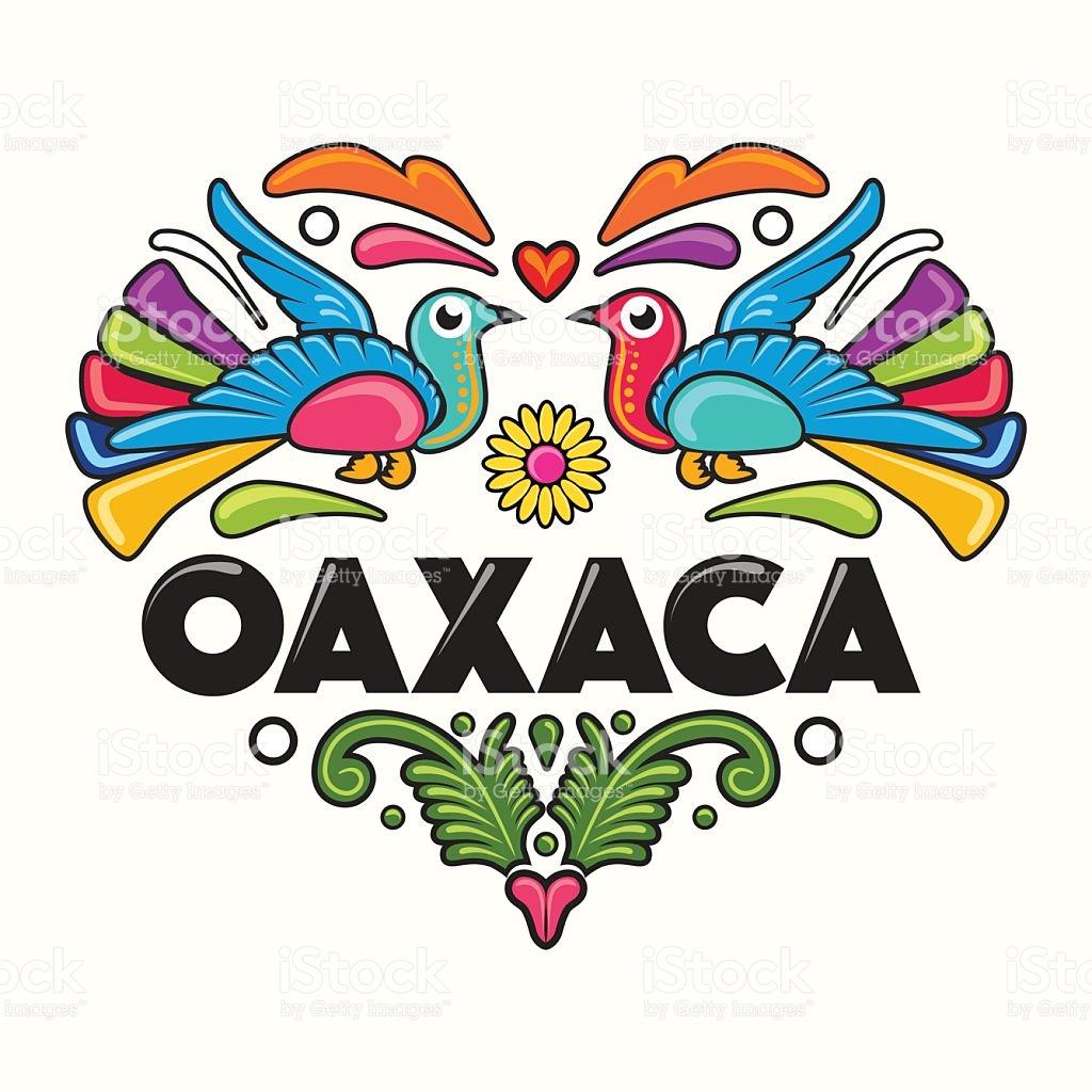 Oaxaca Amate Heart Print stock vector art 485206562.