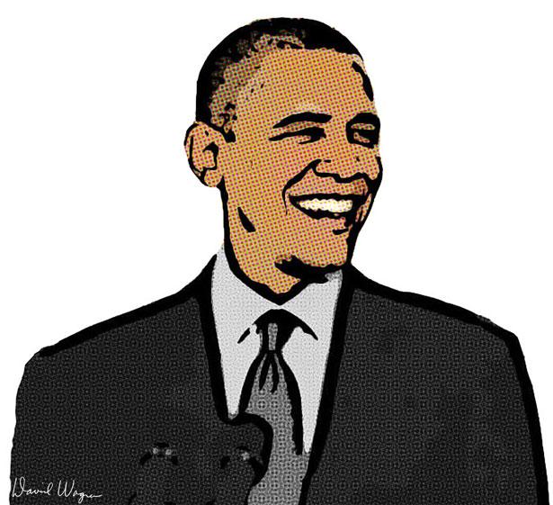 Obama clip art.