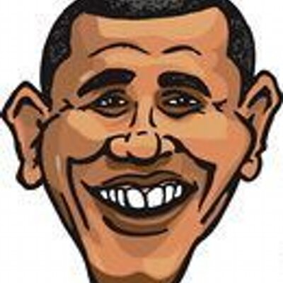 Obama Face Clipart.
