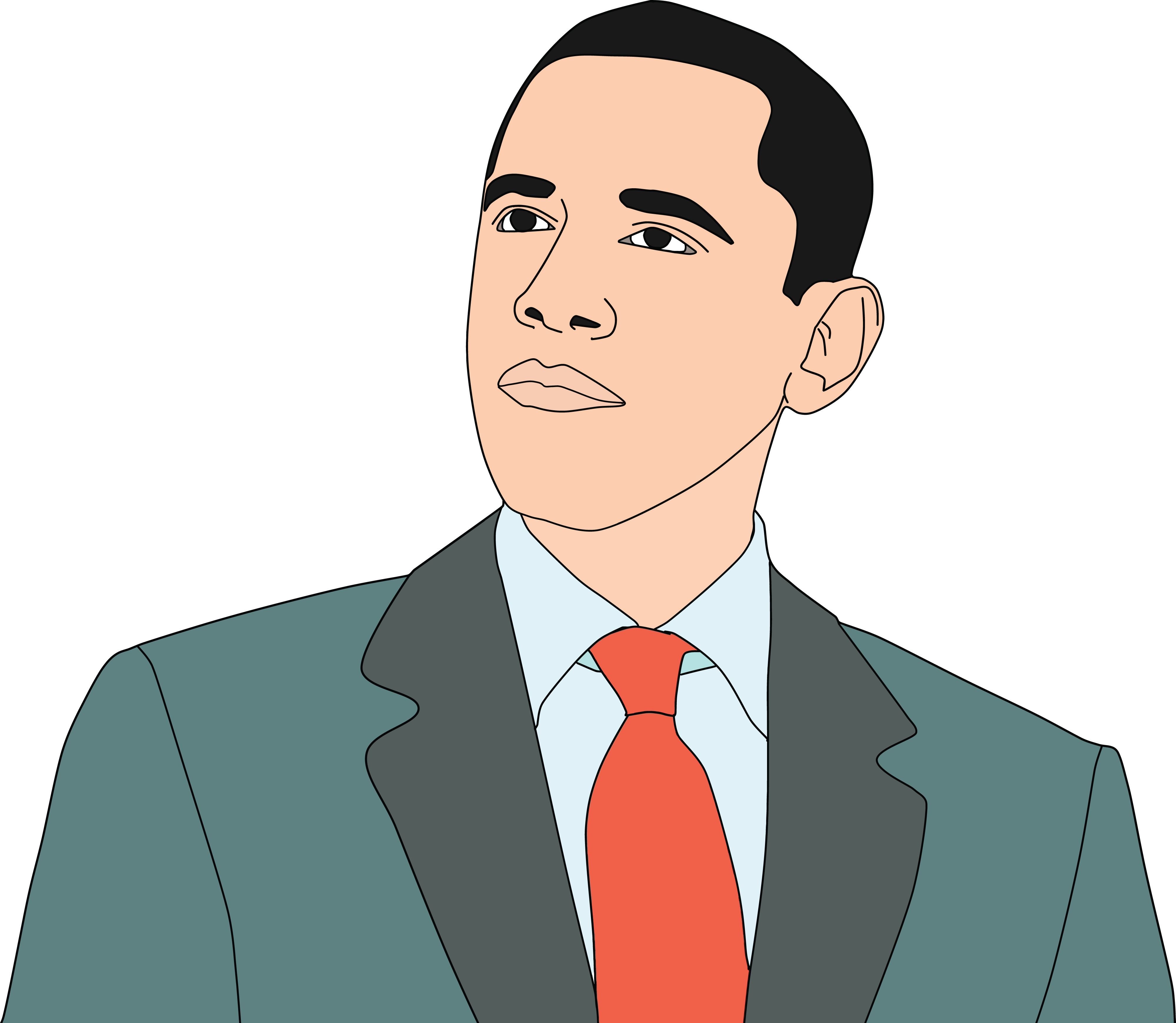 Free Clipart Of obama.