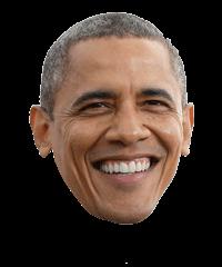 Obama Face transparent PNG.
