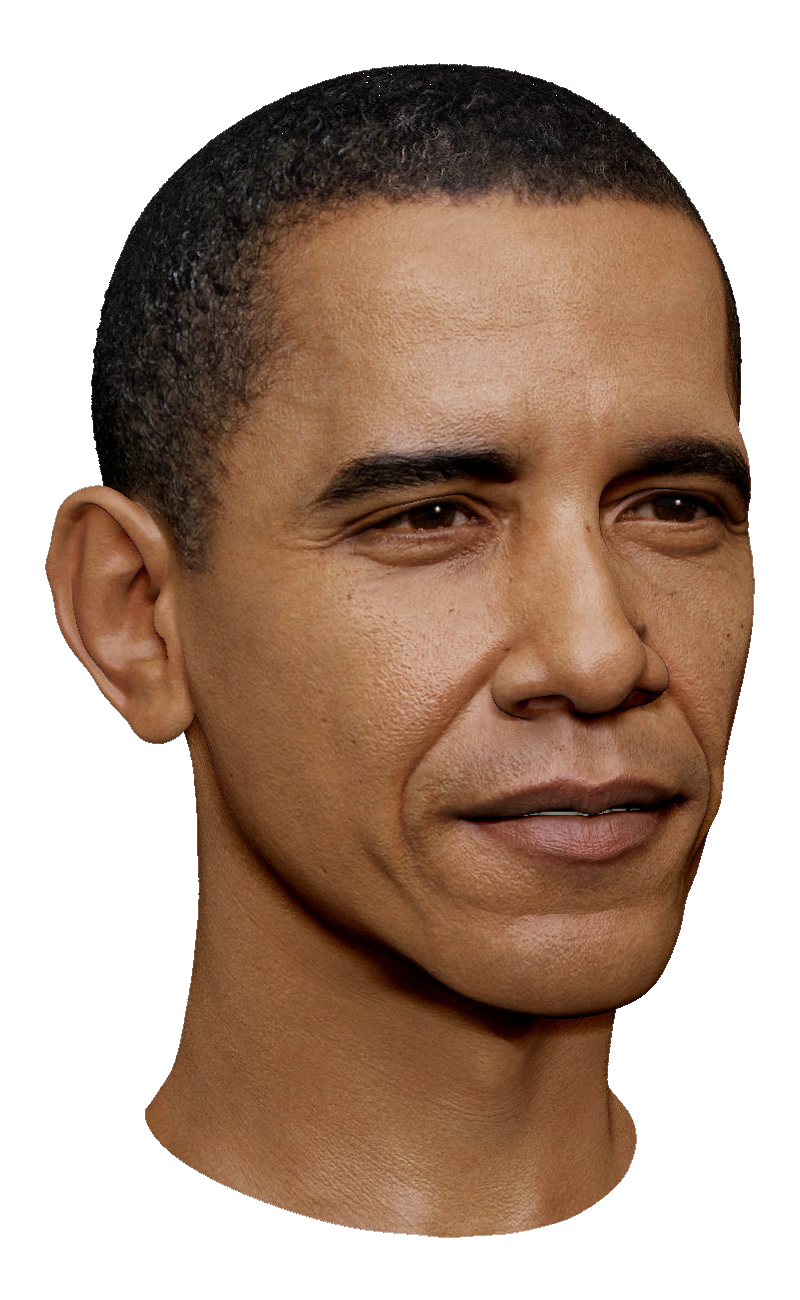 Obama head clipart Transparent pictures on F.