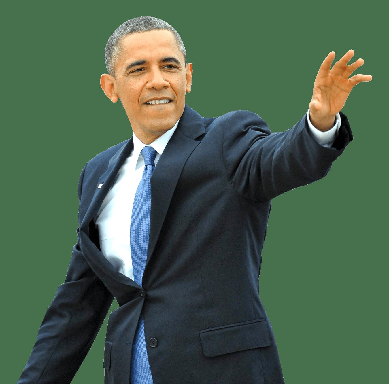 Barack Obama Waving transparent PNG.