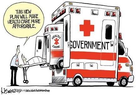 obamacare ambulance cartoon.