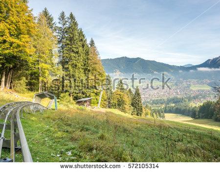 Oberammergau alpine clipart #19