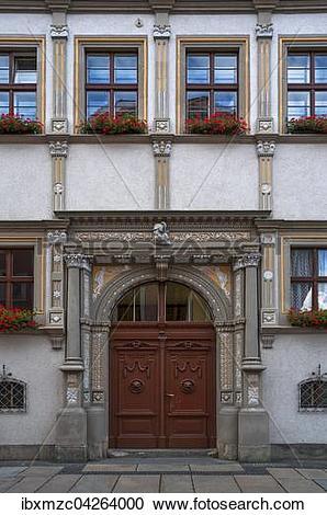 Stock Photography of Renaissanceportal von 1556 der ehemaligen.